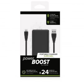 【取扱終了製品】mophie power BOOST Black