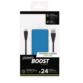 mophie power BOOST Blue