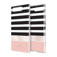 [docomo Select] Kate Spade Protective Hardshell for XPERIA XZ1 Stripe 2 Black/Cream/Rose