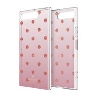 [docomo Select] Kate Spade Protective Hardshell for XPERIA XZ1 Glitter Dot Rose