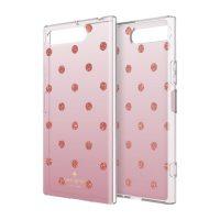 【取扱終了製品】[docomo Select] Kate Spade Protective Hardshell for XPERIA XZ1 Glitter Dot Rose