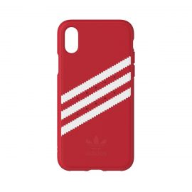 [au+1 Collection Select] adidas Originals Moulded Case for iPhone X Red/White