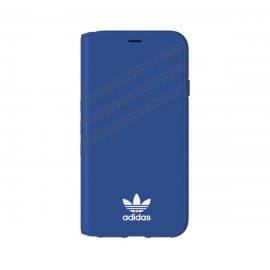 [au+1 Collection Select] adidas Originals Booklet Case for iPhone X Blue/White
