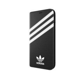 【取扱終了製品】[au+1 Collection Select] adidas Originals SAMBA Book Case iPhone XR Black/White