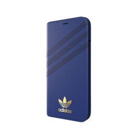 【取扱終了製品】[au+1 Collection Select] adidas Originals SAMBA Book Case iPhone XR night indigo