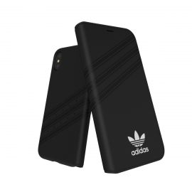 【取扱終了製品】adidas Originals Gazelle Booklet Case iPhone X Black/White