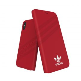 adidas Originals Gazelle Booklet Case iPhone X Royal Red/White