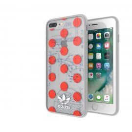 adidas Originals 70S Clear Case iPhone 8 Plus Red/White