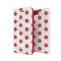 【取扱終了製品】adidas Originals 70S Booklet Case iPhone 8 Plus Red/White