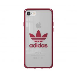 adidas Originals Clear Case iPhone 8 Burgundy Logo