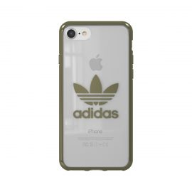 【取扱終了製品】adidas Originals Clear Case iPhone 8 Military Green Logo