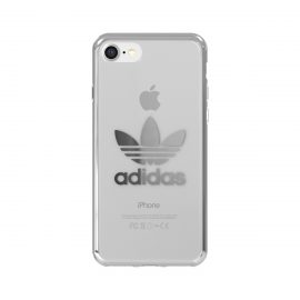 【取扱終了製品】adidas Originals Clear Case iPhone 8 Silver Logo