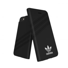 【取扱終了製品】adidas Originals Gazelle Booklet Case iPhone 8 Black/White