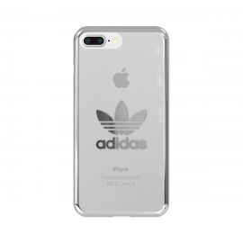 【取扱終了製品】adidas Originals Clear Case iPhone 8 Plus Silver Logo