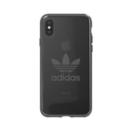 【取扱終了製品】adidas Originals Clear Case iPhone X Gunmetal Logo