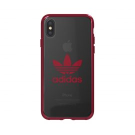 adidas Originals Clear Case iPhone X Collegiate Burgundy Logo
