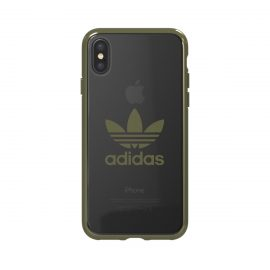 adidas Originals Clear Case iPhone X Military Green Logo