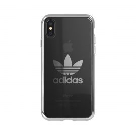 adidas Originals Clear Case iPhone X Silver Logo