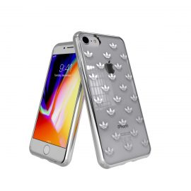 【取扱終了製品】adidas Originals Clear case iPhone 8 Trefoils Silver logo