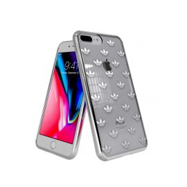 adidas Originals Clear case iPhone 8 Plus Trefoils Silver