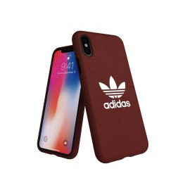 adidas Originals adicolor Moulded Case iPhone X Maroon
