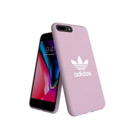 adidas Originals adicolor Moulded Case iPhone 8 Plus Clear Pink