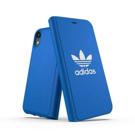 【取扱終了製品】adidas Originals TPU Booklet Case BASIC iPhone XR Bluebird/White