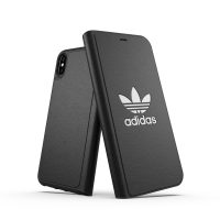 【取扱終了製品】adidas Originals TPU Booklet Case BASIC iPhone XS Max Black/White