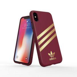 【取扱終了製品】adidas Originals Moulded Case SAMBA iPhone XS Burgandy/Gold