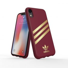 【取扱終了製品】adidas Originals Moulded Case SAMBA iPhone XR Burgandy/Gold