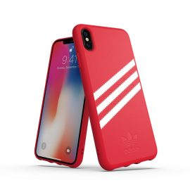 【取扱終了製品】adidas Originals Moulded case iPhone XS Max Royal Red/White