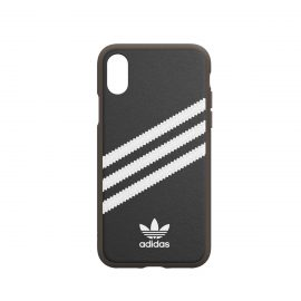 [au+1 Collection Select] adidas Originals SAMBA GUM Moulded Case for iPhone XS black/white