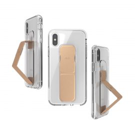 clckr CLEAR GRIPCASE FOUNDATION iPhone XS Clear/Rose Gold
