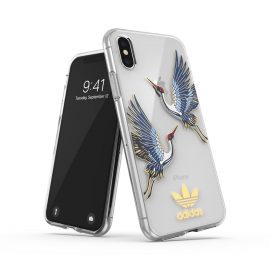 adidas Originals Clear Case CNY iPhone XS Blue/Gold