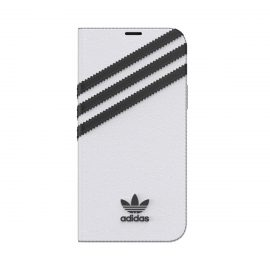 [au+1 Collection Select] adidas Originals SAMBA BookCase for iPhone 12 White/Black
