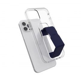 clckr GRIPCASE Clear iPhone 12 / iPhone 12 Pro Clear/Blue