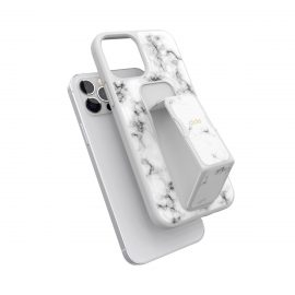 clckr GRIPCASE Marble iPhone 12 / iPhone 12 Pro White Marble
