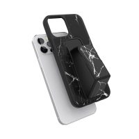 clckr GRIPCASE Marble iPhone 12 / iPhone 12 Pro Marble Black