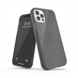 adidas Originals Protective Clear Case FW20 iPhone 12 / iPhone 12 Pro Smokey Black