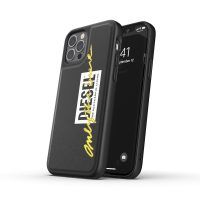 DIESEL Moulded Case Core FW20 iPhone 12 / iPhone 12 Pro Black/Lime