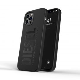 DIESEL Silicone Case SS21 iPhone 12 / 12 Pro black