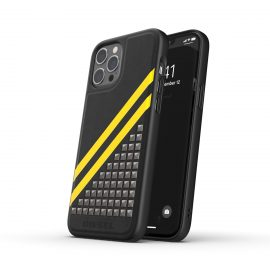 DIESEL Premium Leather Studs Case SS21 iPhone 12 Pro Max Black/Yellow