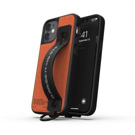 【取扱終了製品】DIESEL Handstrap Case Utility Twill SS21 iPhone 12 mini Black/Orange