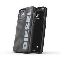 DIESEL Bleached Denim Case SS21 iPhone 12 mini Grey/White