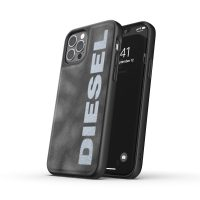 DIESEL Bleached Denim Case SS21 iPhone 12 / 12 Pro Grey/White