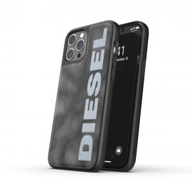DIESEL Bleached Denim Case SS21 iPhone 12 Pro Max Grey/White