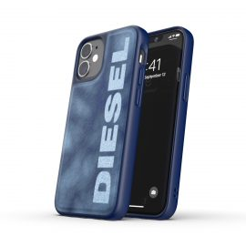 DIESEL Bleached Denim Case SS21 iPhone 12 mini Blue/White