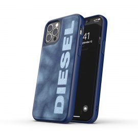 DIESEL Bleached Denim Case SS21 iPhone 12 / 12 Pro Blue/White