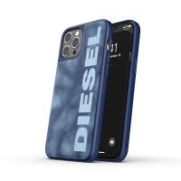 DIESEL Moulded Case Bleached Denim SS21 iPhone 12 Pro Max Blue/White