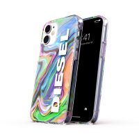 DIESEL Clear Case Digital Holographic SS21 iPhone 12 mini Holographic/White